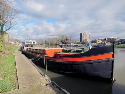 Power Boats - 1909 Dutch Barge 22m Luxemotor with London mooring for sale in Platt's Eyot, Hampton at $138,849